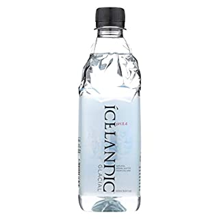 Icelandic Glacial Natural Spring Alkaline Water, 500 mL (24 Count)