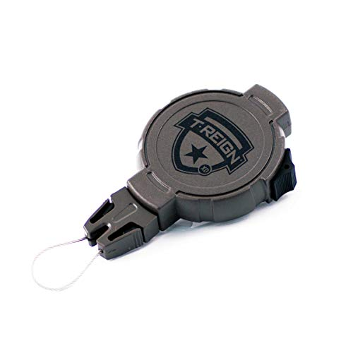 (T-REIGN Hunting Large Retractable Gear Tether, Belt Clip, 48