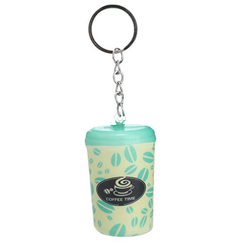 Show TINE ON Fun Coffee Keychain Squishies, Kawaii Slow Rising Squishy Toy Squeeze Cream Scented Squishy Stress Relief Decompression Toys Gift for Kids Adults(4.5x3x7CM) (Light Green)