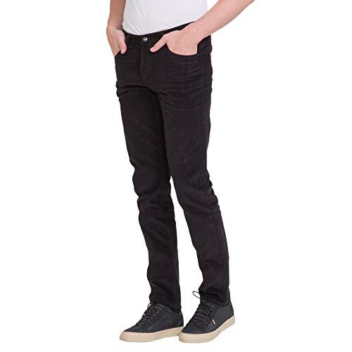 Slim Fit Pants Corduroy - bossini Gracious New Year Mens Slim Fit Solid Corduroy Pants Black 29,Waist 30