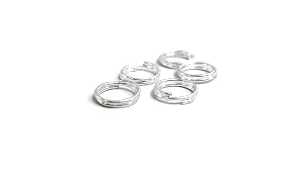 HA11515 Charming Beads Silver Plated Iron 0.7 x 6mm Split Rings Packet of 350