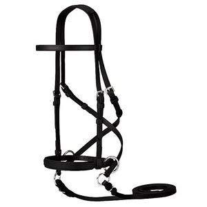 Dover Saddlery Dr. Cook's Beta BitlessBridle- Size Horse-F/S, Black (Horse Hunter Bridle)