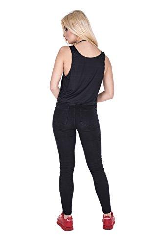 Fringoo - Camiseta sin mangas - Top corto - para mujer BadBat