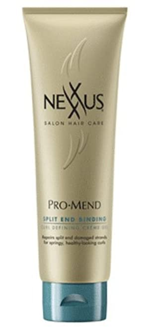 Nexxus Promend Split End Binding Curl Defining Crème Gel, 5.5 Fluid Ounce by Nexxus