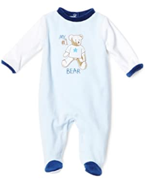 ABSORBA Baby-Boys Newborn My No 1 Bear Velour Footie Socks