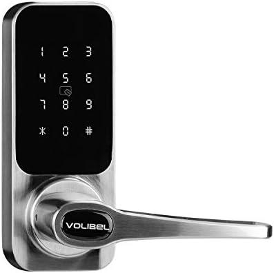 VOLIBeL A31B Smart Door Lock, Bluetooth Keyless Touchscreen Keypad Door Lock, 4-in-1 Smart Lock with App, Codes, RFID Card and Key (Batteries no Included)