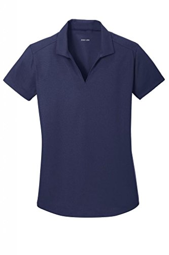 Golf Womens V-neck (Joe's USA(tm) Ladies Moisture Wicking Textured Golf Polos in 12 Colors)