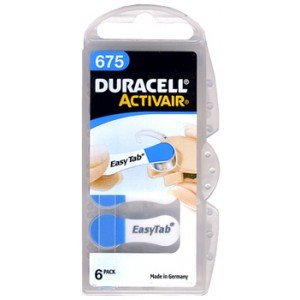 Duracell Activair Size 675 Hearing Aid Batteries (30 Batteries)