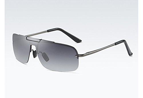gradient polarizadas Sol Gafas de TL Hombre Calidad Gris la gray Gris con Sol Gafas de UV400 Sunglasses gray para Alta Degradado Hombres qXR8qS