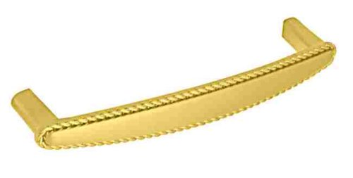 Braid Pull Polished Brass - Polished Brass Braid Drawer Pull Handle Centers: 5