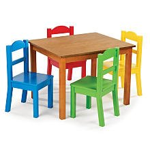 Tot Tutors Table & Chair Set - Dark Pine by Tot Tutors