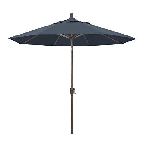 California Umbrella 9′ Round Aluminum Pole/Ribs, Crank Lift/Auto Tilt, Champagne Pole,Pacifica Sapphire Fabric Review
