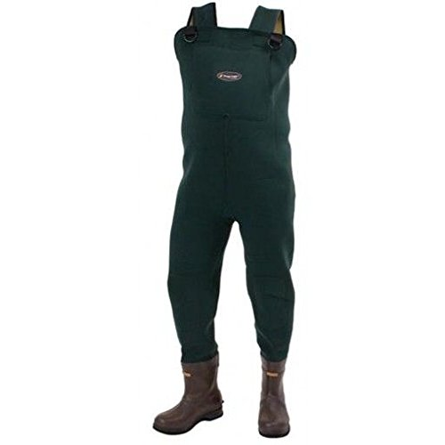 Frogg toggs amphib neoprene bootfoot felt wader 8 for Fishing waders amazon