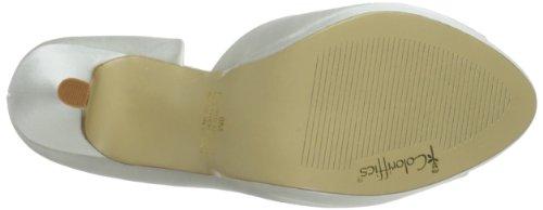 Coloriffics Danica Femmes Ivoire Satin Chaussures Pompes Pointure EU 38,5