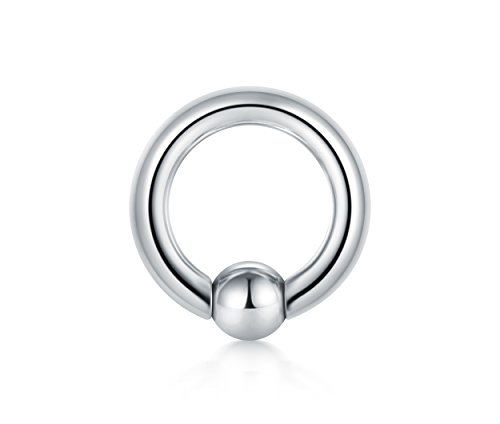 Briana Williams Captive Bead Ring CBR 316L Surgical Steel Spring Action Circular Barbells Internally Threaded Horseshoes Pierced Body Jewelry 6G