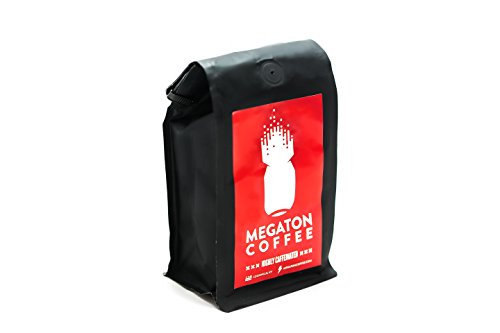 Megaton Coffee. High Intensity Coffee for Athletes | Natural Pre Workout | Highly Caffeinated | Roasted in Small Batches | FBA (Whole Bean)