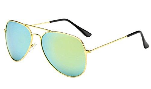 de Clásico Espejo Gota Hombre Gafas Unisex Aviador sol Mujer Verde 7qyd8