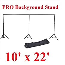 CanadianStudio Pro Heavy Duty 10'x 22' Background Support Backdrop Stand Kit-set in metal casings & heavy gage metal for Video photography portrait
