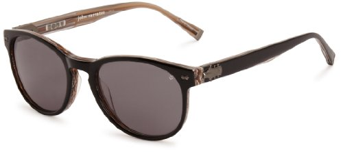 John Varvatos V774 Round Sunglasses, Black, 19 - Sunglasses Jv