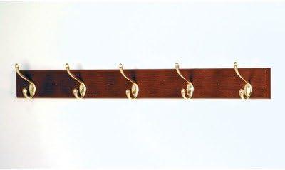 Wooden Mallet HCR-5NMH Five Metal Hook Coat Rack