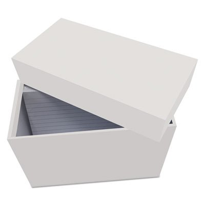 Universal 47281 Index Card Box with 100 Ruled Index Cards, 4'' x 6'', Gray by Universal (Image #2)