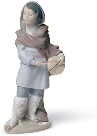 LLADR Drummer Boy Nativity Figurine. Porcelain Nativity Drum Figure.