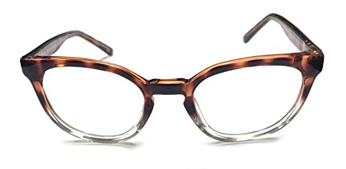 Intellectual Reading Glasses for Men and Women _ Trendy Plastic Reading Glasses with Keyhole Bridge_ High and low Powers Available (+0.25, Tortoise / - Made Reading American Glasses