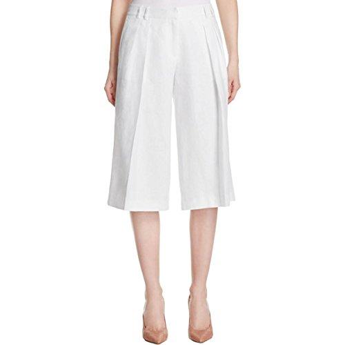 Michael Michael Kors Womens Linen Pant (MICHAEL Michael Kors Womens Pleated Linen Culottes White 12)