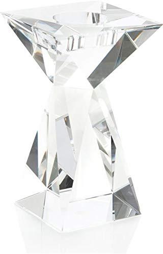 - John Richard Candleholder Tapered Column Short Crystal New