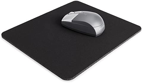 Belkin Standard 8-Inch by way of 9-Inch Computer Mouse Pad with Neoprene Backing and Jersey Surface (Black) (F8E089-BLK)