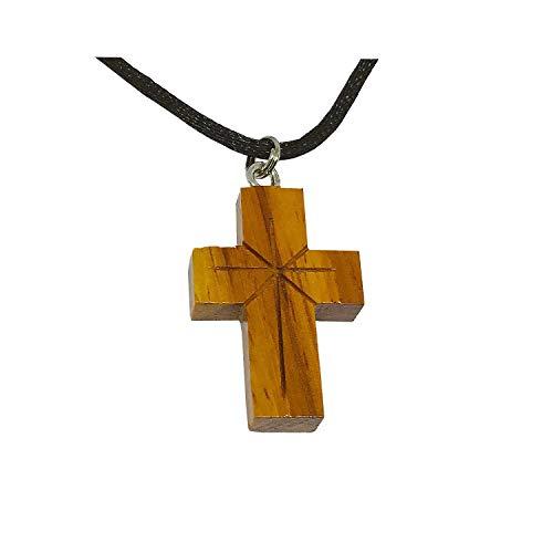 Zero Gravity Hawaii Large Hawaiian Jewelry Koa Wood Cross Pendant Necklace