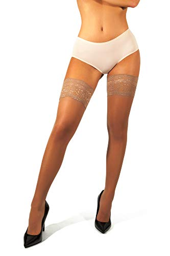 5be15218c sofsy Lace Sheer Thigh-High Stockings Pantyhose w Hold-Up Silicone -