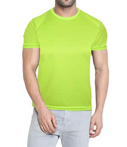 Neon Undershirt Compression Wicking T Shirt - Mens Scrubs Short Sleeve Neon Green Tee Shirt (M)