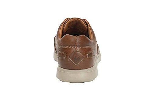 Clarks Détente Homme Chaussures Un Lomac Lace En Cuir Marron Taille 41½
