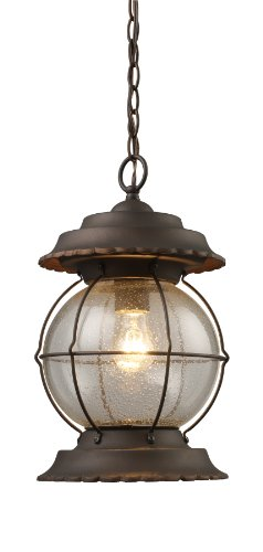 Elk 08170-BB Manchester 1-Light Outdoor Pendant In Burnt Bronze
