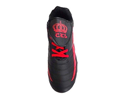 Schnürsenkel Männer High Performance Cleat Durable Fußballtraining Schnüren Sportliche Leistung Schuhe Schwarz / Rot
