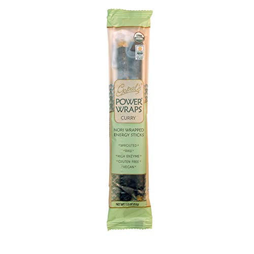 Gopal's Curry Power Wraps, Vegan and Gluten-Free Organic Food, Raw and USDA Certified Nori-Wrapped Energy Sticks 1.8 Ounces (Pack of 24) by Gopal's (Image #5)