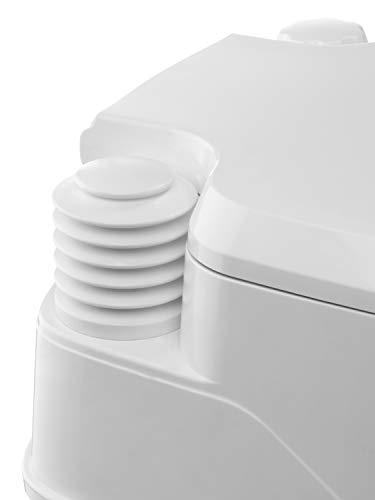 31OEaeuIRyL Thetford 92802 Porta Potti 145 Tragbare Toilette Qube, Weiß-Grau, 330 x 383 x 427 mm