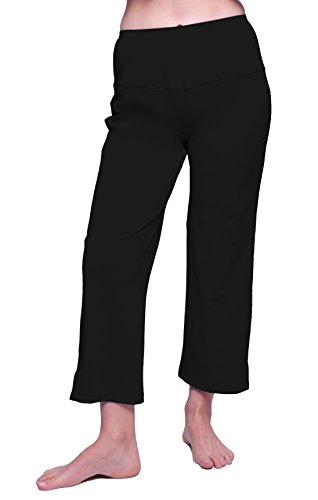 HydroChic Plus Size Land & Sea Swim Capris 1X in Black