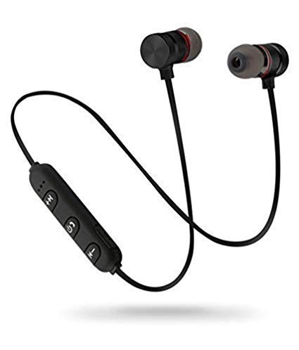 SBA999 C008 Bluetooth Headphone with Noise Isolation and Hands-Free Mic and Buttons with Magnetic Earbuds Secure Fit for Gym, Running and Outdoor