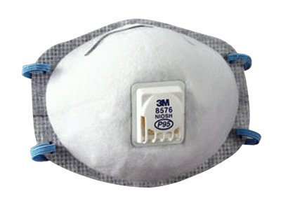 3M Particulate Respirator 8576, P95, with Nuisance Level Acid Gas Relief (Pack of 10) (Fireplace Gas Face)
