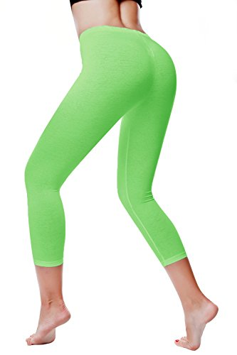Stretch Cotton Capri Leggings Tights
