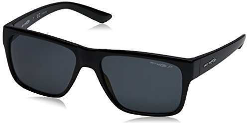 Arnette Men's Reserve Polarized Square Sunglasses, BLACK, 57 mm