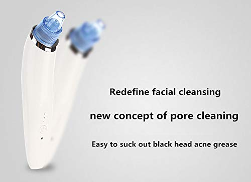 swinonline Blackhead Remover Vacuum Suction Facial Pore Cleaner Electric Acne Comedone Extractor Kit with 4 Suction Head…