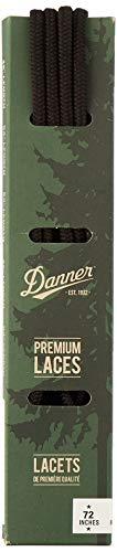 """Danner Laces 72"""" Shoelaces, Black, Medium"""