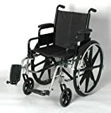 "Wheelchair - 16"" Seat Width Light Weight Wheelchair High strength lightweight frame. Flip back padded desk arm. Detachable swing away footrest. Dual rear wheel axle position. Weight 32.5 lbs without footrest. Weight Capacity: 250lbs"