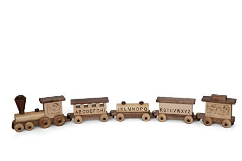 Deluxe-Wooden-32-ABC-Educational-Toy-Train-Play-Set-Kid-Safe-Finish