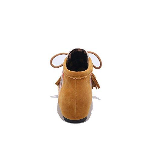 Scarpe Da Camoscio Comfort Antiscivolo In Morbida Pelle Di Camamasa Abl10073 Giallo