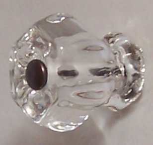 LOT of 8 Depression Ice Clear Crystal Knob Pulls with OIL RUBBED