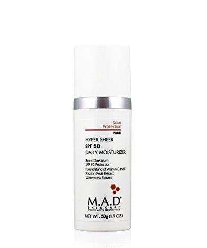 M.A.D Skincare Hyper Sheer SPF 50 Daily Moisturizer 1.7 oz. ...